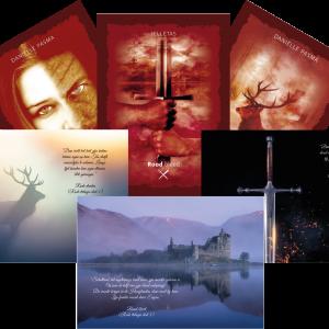 Ansichtkaarten de rode trilogie